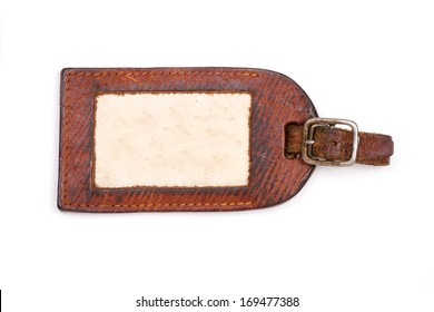 Vintage luggage label with clipping path