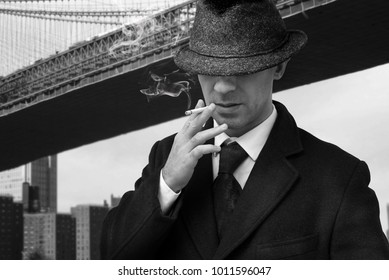 vintage mafia gangster in New York