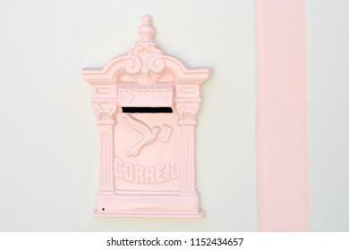 Vintage mailbox in Cidade de Goias Brazil