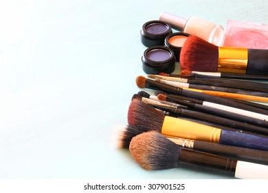 Vintage Make Up set. filtered image.