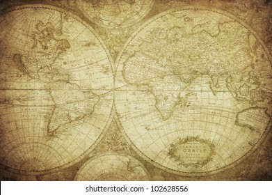 vintage map of the world 1675