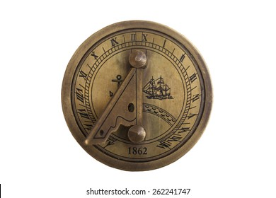 vintage marine compass