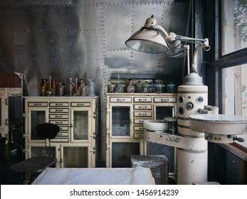 Vintage medical Lab, Decoration Vitage Style,