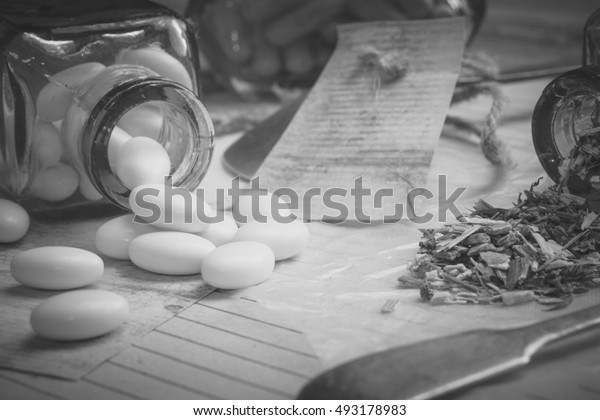 Vintage medications.