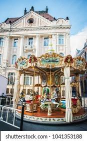 Vintage merry-go-round carousel