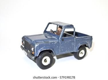 Vintage Metal Blue Toy Truck Car