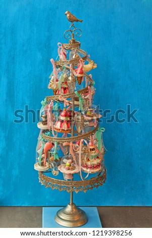 Vintage Metal Christmas Tree Stock Photo Edit Now 1219398256