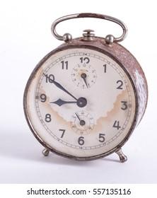Vintage Metal desk Clock