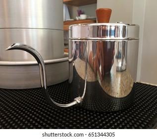 Vintage metal kettle.