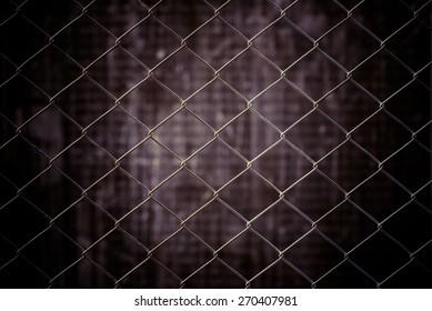 vintage metal net and grunge background