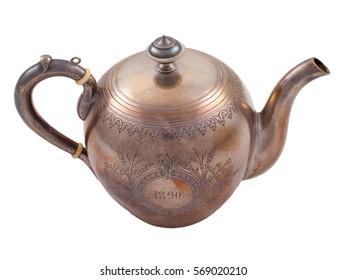 Vintage Metal Teapot Nineteenth Century