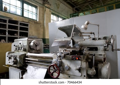 a vintage metal working machine, made in the middle of last century, still in good order