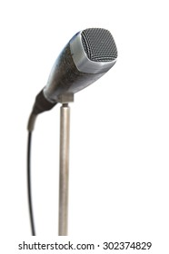 Vintage microphone on white background 3d model