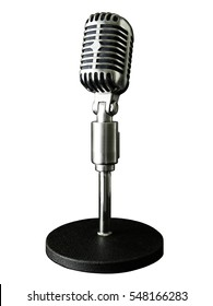 VINTAGE MICROPHONE WITH SHEET MUSIC BACKGROUND