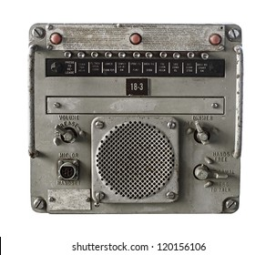 Vintage Military Receiver Isolated on White