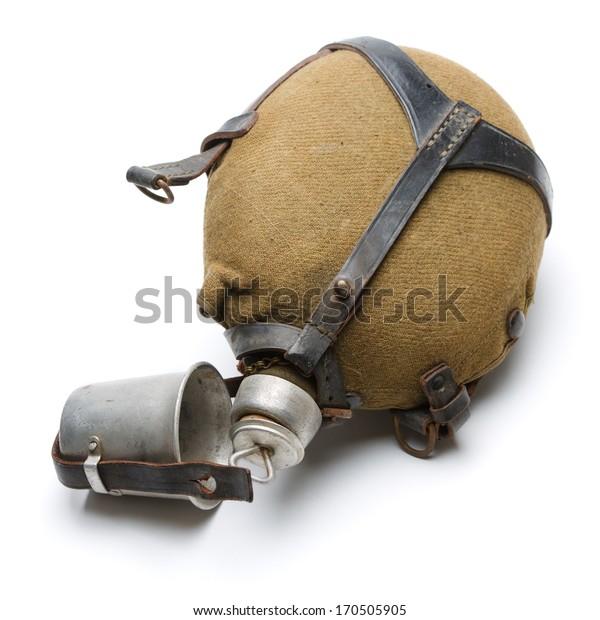 Vintage military water flask