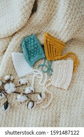 Vintage and modern handmade crochet and knitted bonnet and pixie bonnet hats for babies