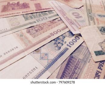 Vintage money banknotes background