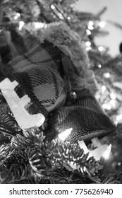 Vintage Monochrome Skate Christmas Tree Ornaments