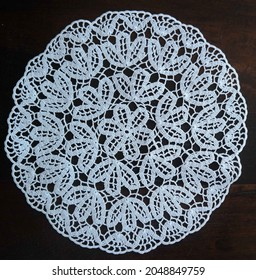 Vintage Monogram Handmade Crochet Doily
