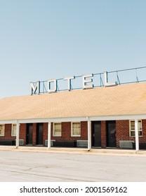 Vintage motel sign at the Beltway Motel, in Baltimore, Maryland