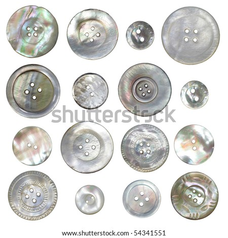 Vintage Mother Pearl Buttons Stock Photo Edit Now 54341551
