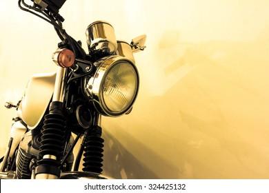 vintage Motorcycle detail, vintage color style
