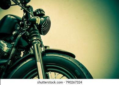 vintage Motorcycle detail, vintage tone