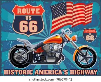 Vintage motorcycle label