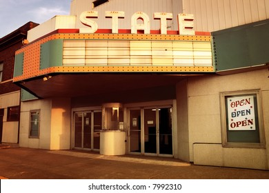 Vintage movie theater in Benton Harbor, Michigan,