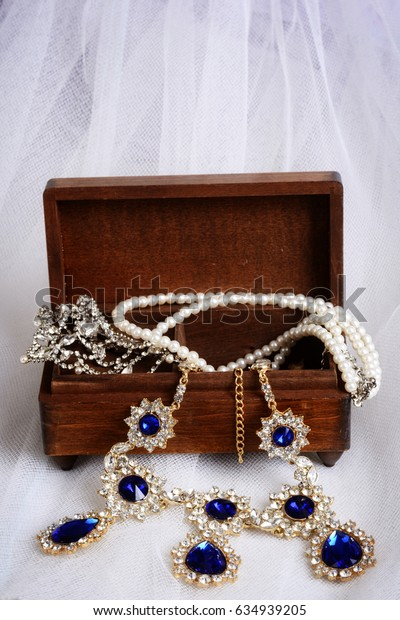 vintage necklaces with jewelry box