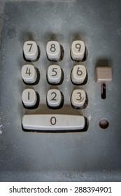 vintage number button
