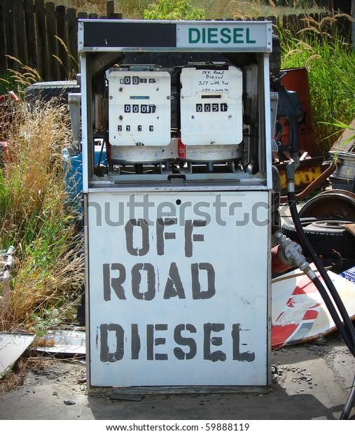 Vintage Off Road Diesel Gas Pump Stock Photo (Edit Now) 59888119