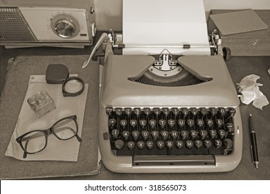 Vintage office equipment - toned image