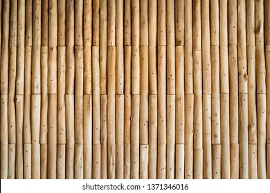 Vintage old bamboo fence close up.  Background and texture.