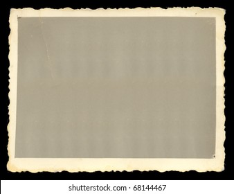 Vintage old blank photograph design element with white border.