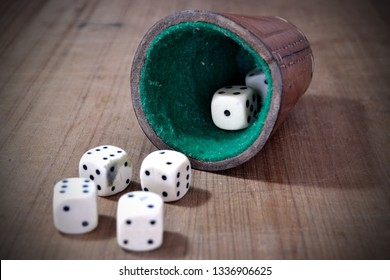 Vintage and Old Dice Game