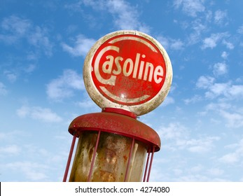 Vintage Old Gas Sign