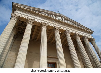 Vintage Old Justice Courthouse Column - Shutterstock ID 1189193629