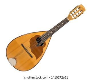 vintage old mandolin, music instrument  - Shutterstock ID 1410272651