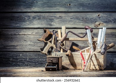 Vintage old place of carpenters work