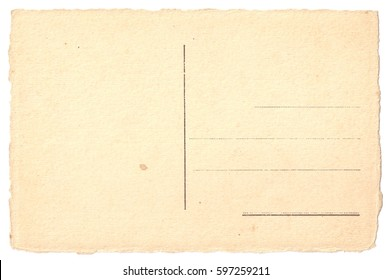Vintage Old POSTCARD with rough edges