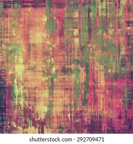 Vintage old texture for background. With different color patterns: yellow (beige); green; purple (violet); pink