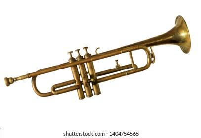 vintage old trumpet, fanfare, tuba