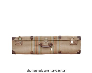 Vintage Old Used Suitcases isolated on white background