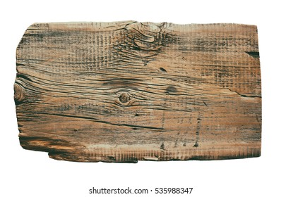 Vintage old wood background. Vintage wood background. Rustic or rural background with free text space. Isolated on white background