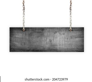 Vintage Old Wood sign isolated on white background.