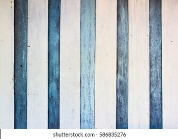vintage old wood wall paint white and blue stripe vertical
