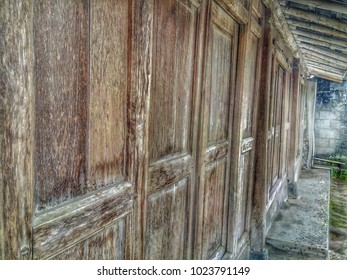 Vintage and Old Wooden Doors of Joglo House in Yogyakarta
