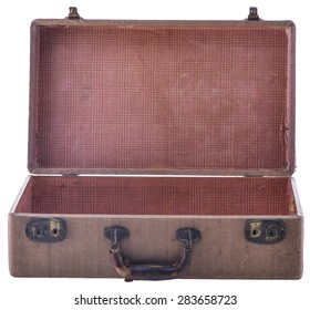 Vintage Open Suitcase Isolated